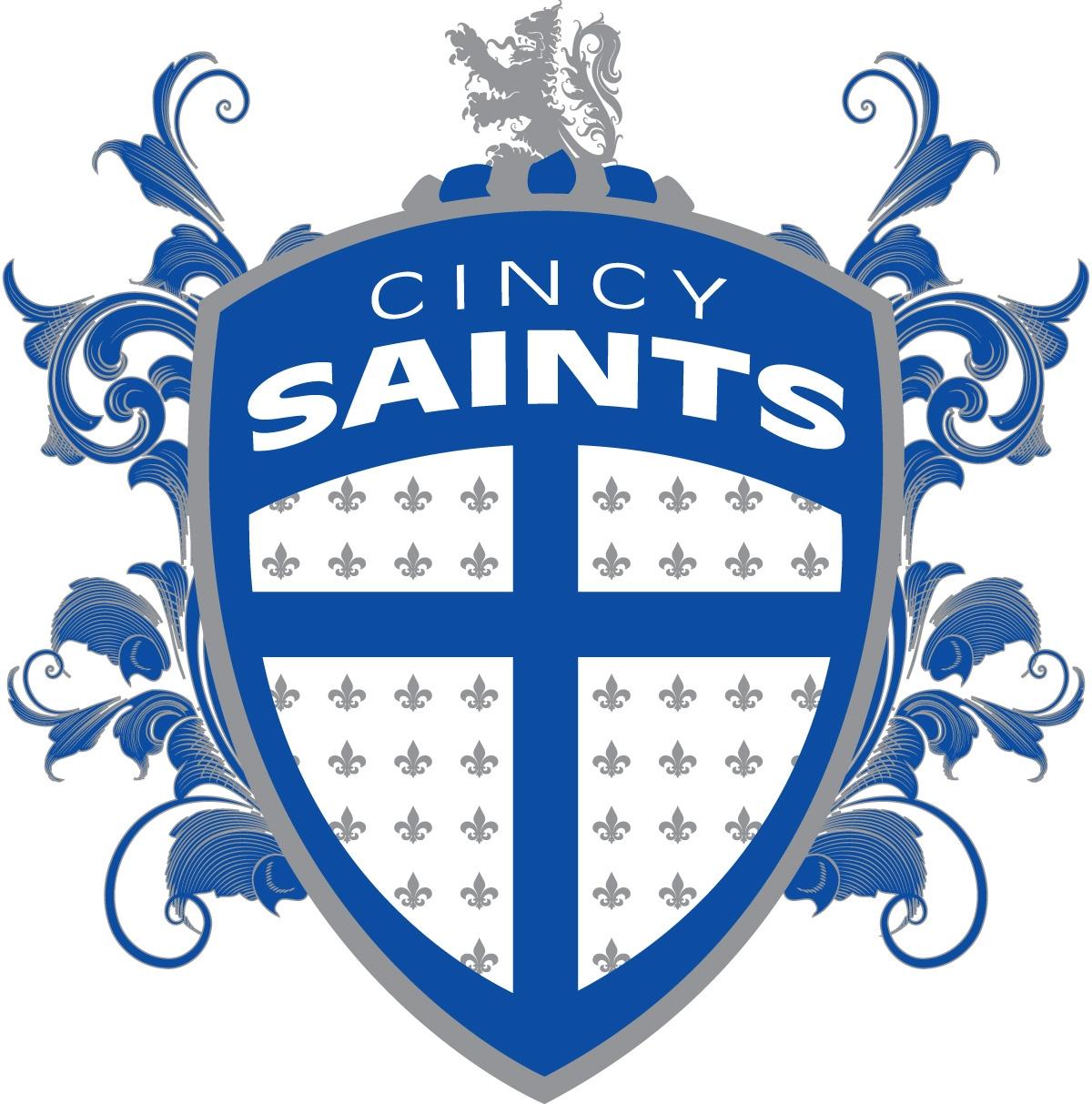 Cincy Saints mens correct color Logo